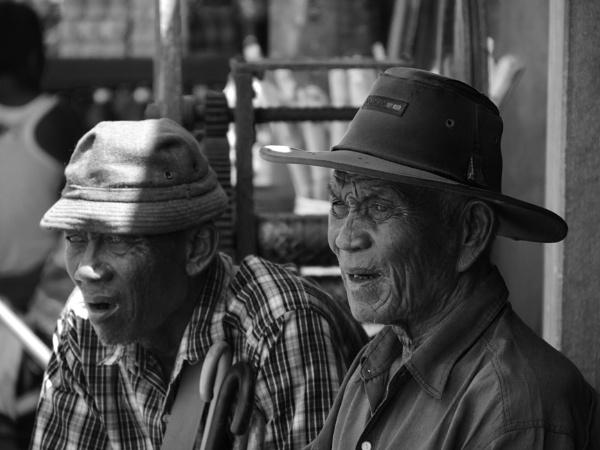 Old guys in Mawlamyine, Myanmar by chrisdunham