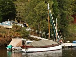 Retired work-boat