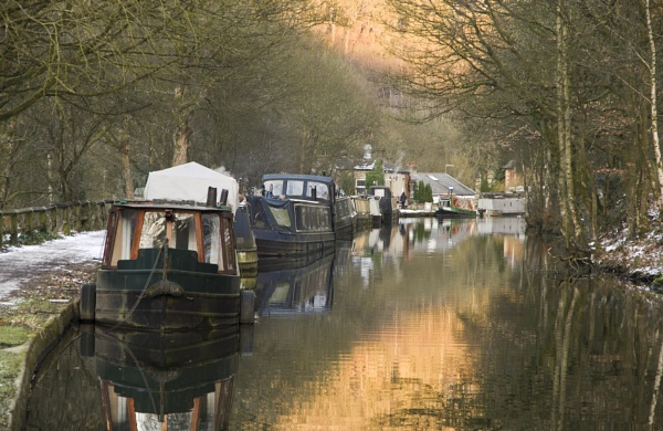 Narrow Boats on the Rochdale Canal by iangilmour