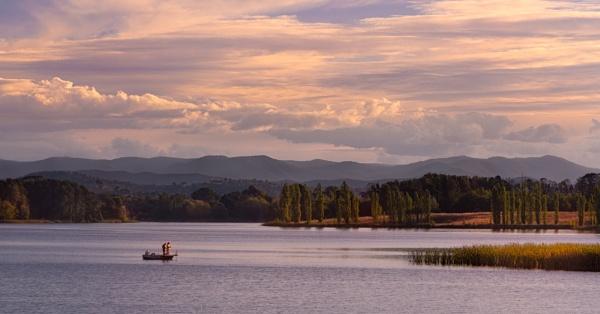 Evening on a Lake by BobinAus