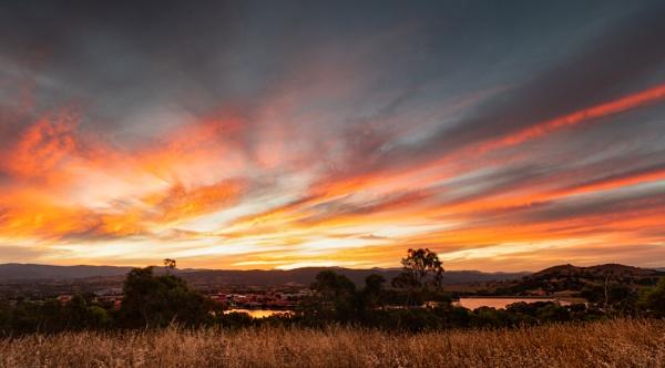 Sunset Above Tuggeranong, Canberra by BobinAus
