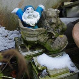 gnome at the scrapyard