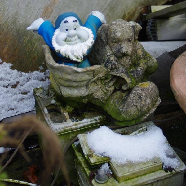 gnome at the scrapyard by crobncarol