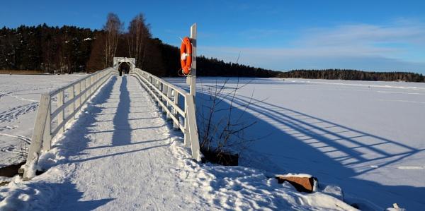The bridge with shadows. by Jukka