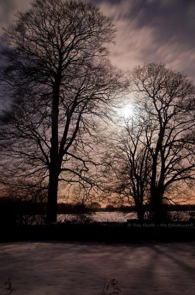 Moon-Cloud-Snow in winter by RayHeath
