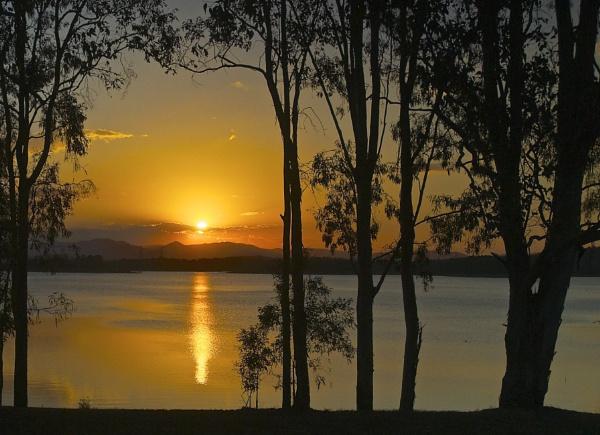 Sunset Pine River Dam Queensland (2) by harrywatson