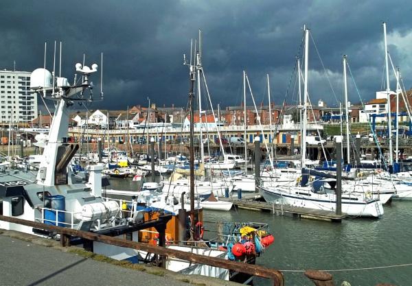 Storm over Bridlington Habour by Hurstbourne