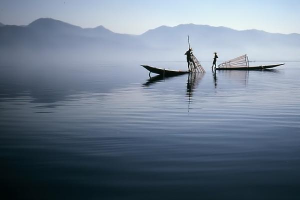 Burmese fishermen by jbsaladino