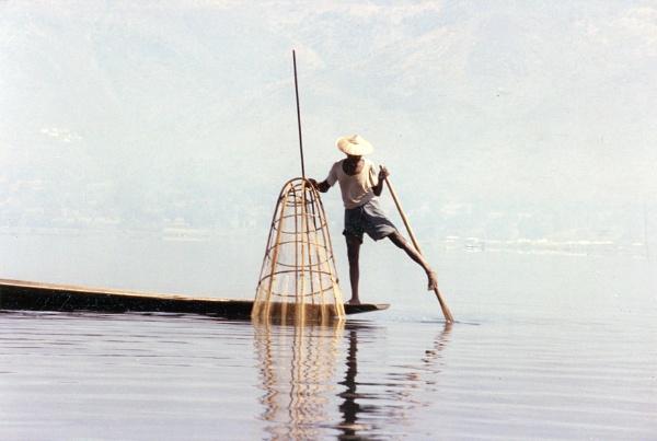 Burmese fisherman by jbsaladino