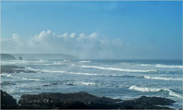 A misty morning by JuBarney