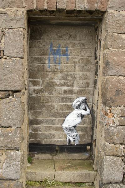 Banksy style painting by yultony