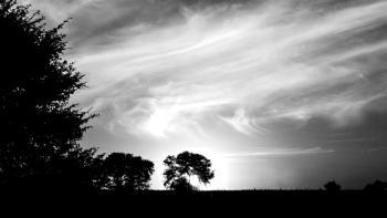 Black and White Sunset.
