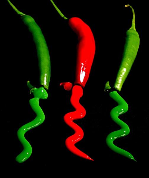 Juicy peppers by martininbg