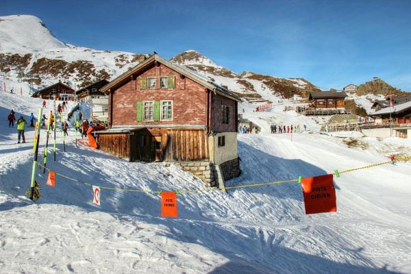 Shadows in the snow -  Kleine Scheidegg, Switzerland by canoncarol