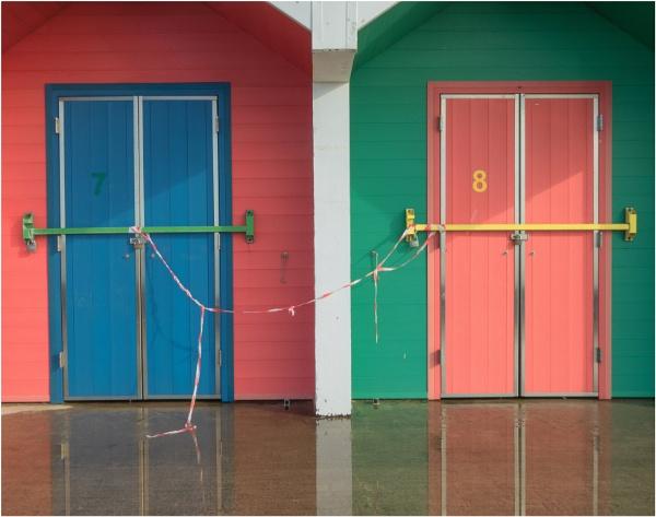 Lock down beach huts. by franken