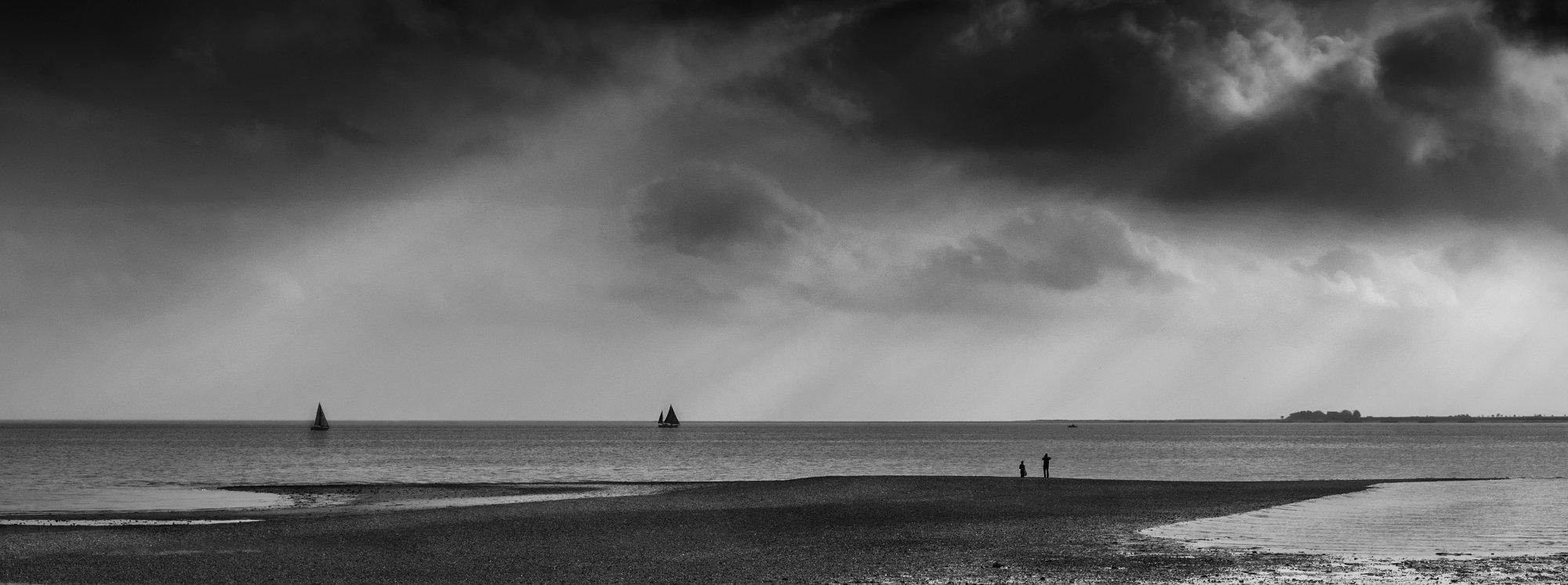 Sunset at Mersea Island in Essex.