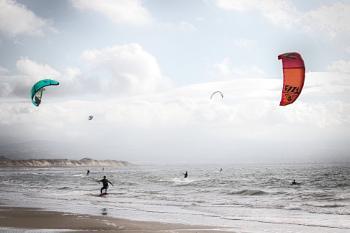 Newbourogh Beach Kite Surfing