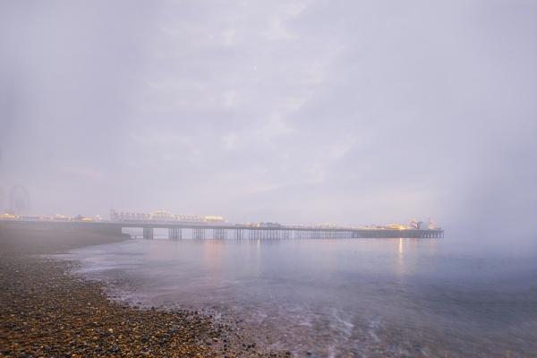 misty pier by kenwil