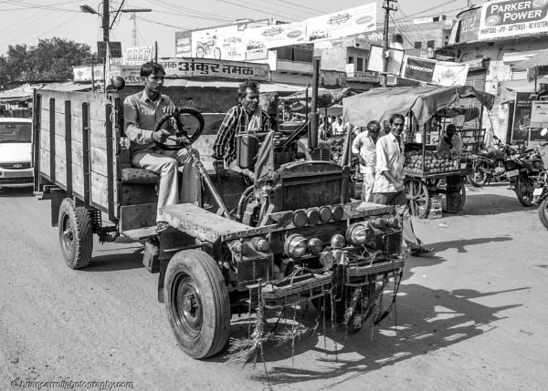 Farm Truck, Village near Jaipur, Rajasthan, India by brian17302