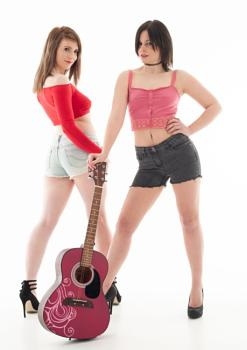Two Beauties with Guitar