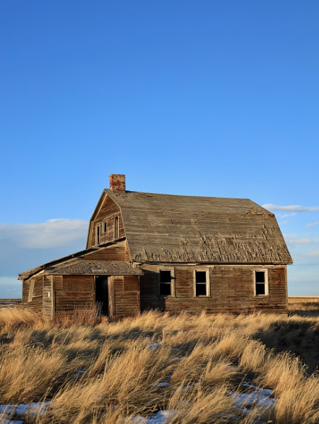 Barn shaped house in the grass by waltknox