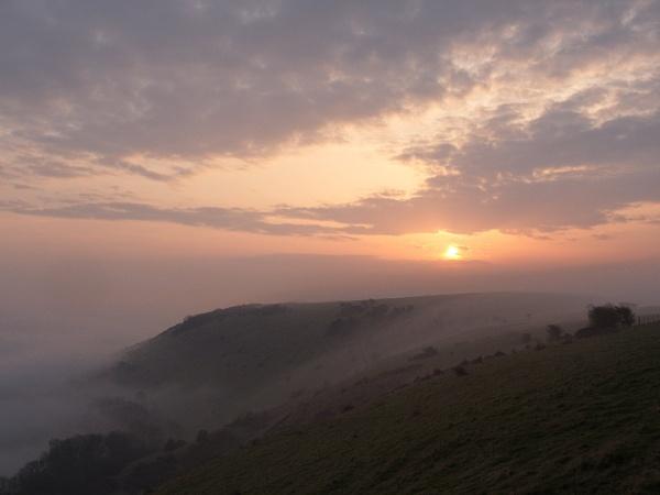 sunrise and mist by alfpics