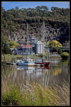 Where Esk and Tarmar meet in northern Tasmania