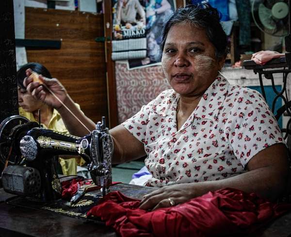 Seamstress Yangon Market by Backabit