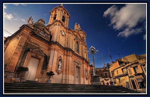 Zurrieq Parish Facade The Church of St Catherine by Edcat55