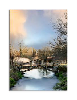 The River Wylye at Longbridge Deverill in Wiltshire
