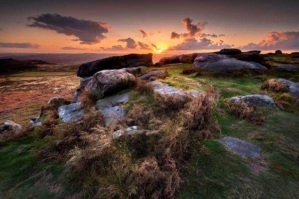 Higger Tor sunset3 2021 by DaveShandley