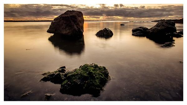 Rock in the sea by happysnapper