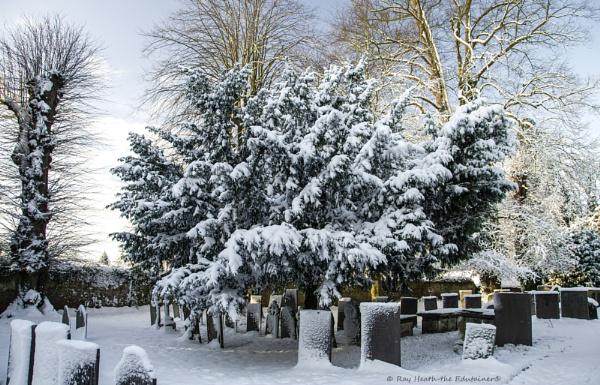 St. Chad\'s graveyard view in heavy snow...Feb 2021 by RayHeath