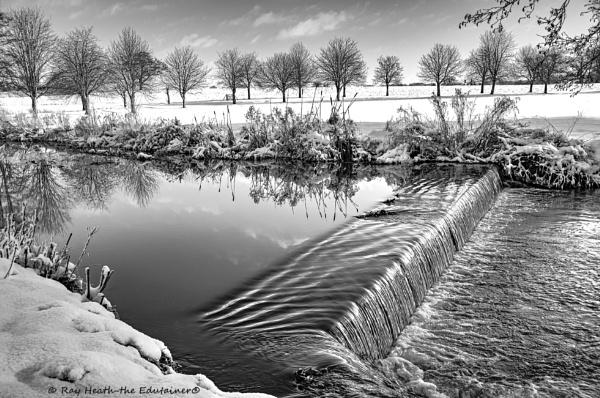 Reflections on stream with heavy snow 13 ..Feb 2021 by RayHeath