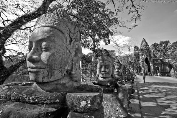 South Gate Angkor Thom, Siem Reap, Cambodia by brian17302