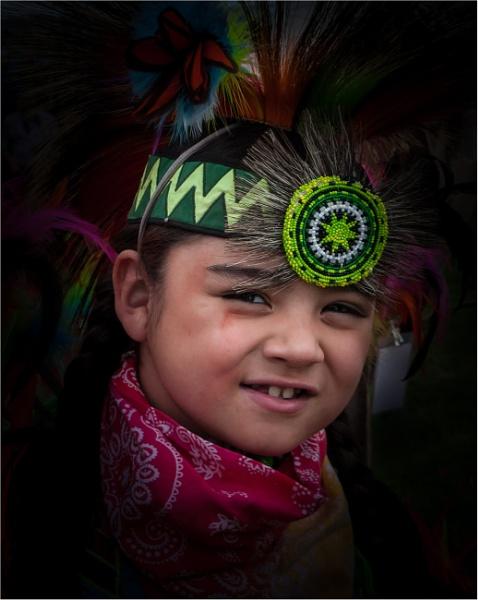 Native American boy by KingBee