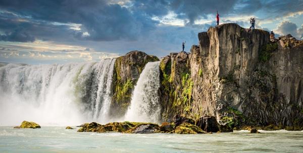 Godafoss Falls - Iceland by TomSaetan