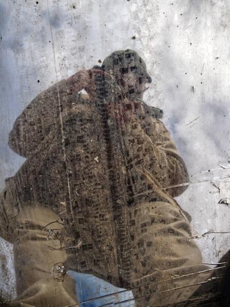 Self Portrait in Fallen Mirror by ericfaragh