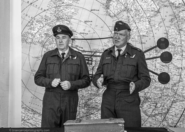 RAF WW2 Bombing Mission Briefing (Re-enactment) Duxford by brian17302
