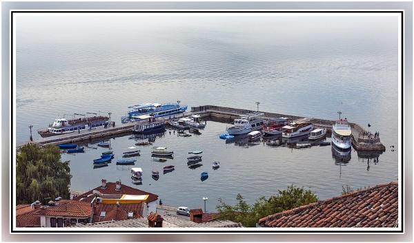 Ohrid  boats by nklakor
