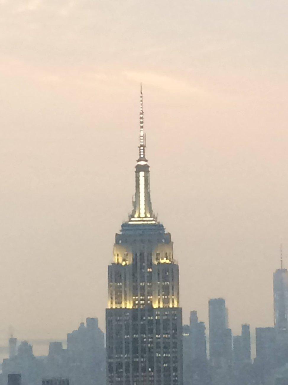Empire State Building at dusk September New York