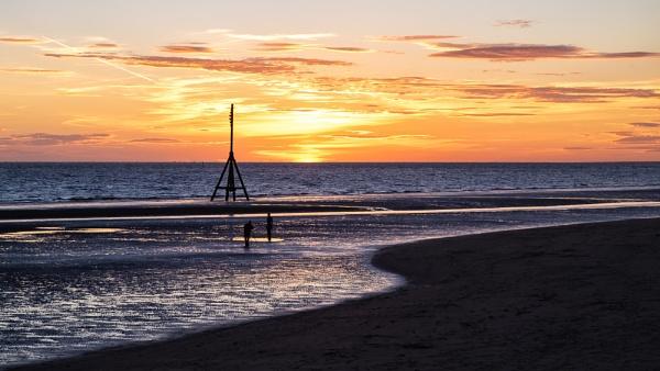 Sunset on Crosby Beach by Xandru