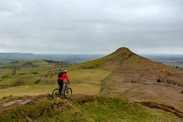 Mountain Biking at Roseberry Topping by terra