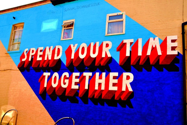 Colour postcards on a wall... by Chinga