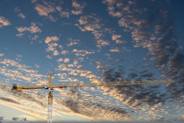 Crane in the sky... by Swarnadip