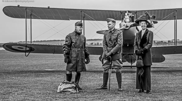 World War 1 era, re-enactors at Flying Legends Airshow, Duxford 13-07-2019 by brian17302