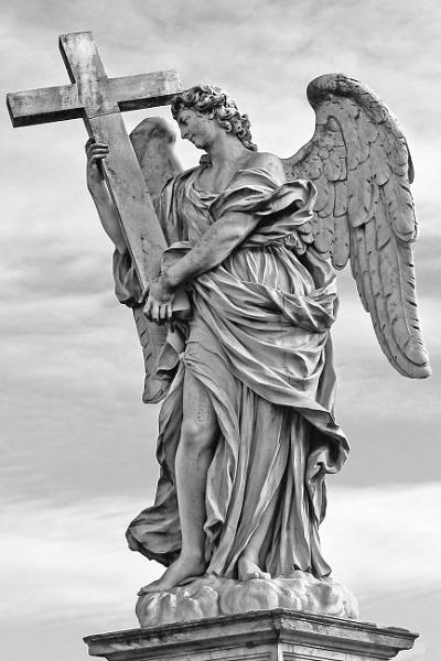 Statue Ponte Sant\'Angelo Rome by MJJ2810