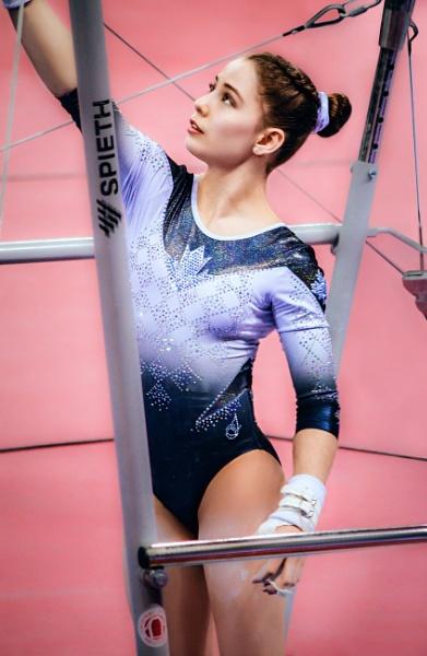 Anne-Marie Padurariu a Canadian artistic gymnast Stuttgart 2019 by ViVla