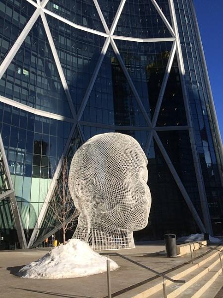 Cool sculpture Calgary Alberta Canada by topcatj