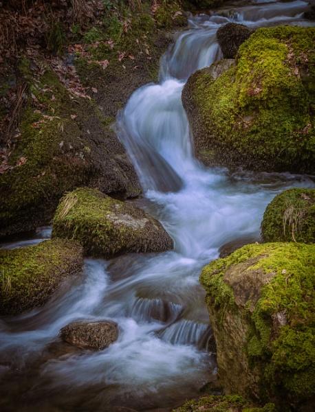 Waterfall detail. by Brenty